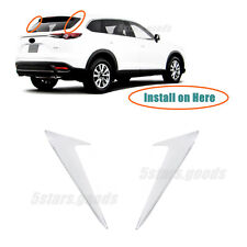 Tail Rear Window Chrome Side Triangle Covers Trims For 2016-2019 Mazda CX-9 SUV