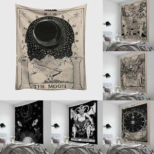 1 Pc Tarot Card Tapestry Wall Hanging Astrology Divination Bedspread Beach Mat