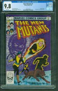 New Mutants 1 CGC 9.8 NM-MT White Pages Marvel Comics 1983