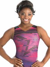 New listing NWT! E3544 Star Powered Simone Biles GK ™ shiny holotek gymnastics leotard CM