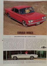 1963 CHEVROLET CORVAIR MONZA-AD/PICTURE/PRINT 62 64 65 66 CORVETTE AIR-COOLED