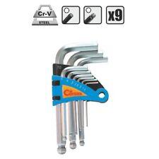 Inbusschlüssel Imbusschlüssel Set kurz Satz Kugelkopf 9-teilig CrV Stahl