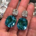 Women Gorgeous Cubic Zirconia Anniversary Jewelry 925 Silver Drop Earrings Gifts