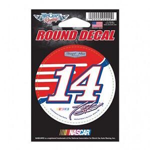 "TONY STEWART #14 MOBIL1 RACING NASCAR 3"" ROUND DECAL STICKER STEWART HASS RACING"