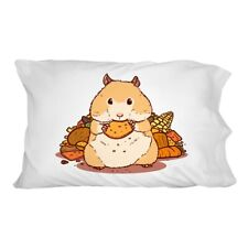 Hamster Eating Stash of Food Novelty Bedding Pillowcase