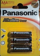 12 X pila alcalina AAA Lr03 1 5V Panasonic Alkaline Power 3 paquetes de 4 pilas