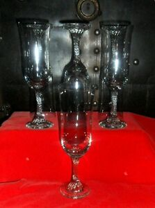 Beautiful Champagne Flutes Set of 7 Elegant Simplicity Wine Glasses up to 5oz.