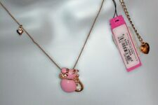 NWT - Betsey Johnson Pink Princess Mouse Necklace - SOLD OUT