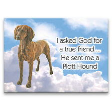Plott Hound True Friend From God Fridge Magnet Dog