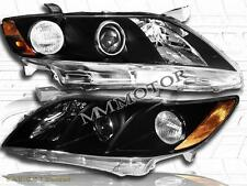 07-09 Toyota Camry 4 Door Sedan Black Housing Headlights Euro Clear Lens