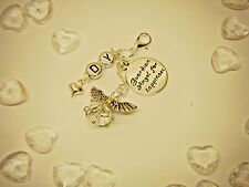 PERSONALISED GUARDIAN ANGEL FOR HAPPINESS Travel/ GOOD LUCK charm GET WELL gift