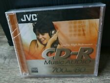 JVC CD-R Music Audio 700 MB/80 Min 2CDs, Sealed