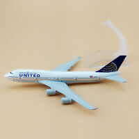 16cm Airplane Model Plane Air UNITED Boeing 747 B747-400 Aircraft Model Metal