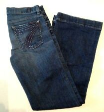 7 for all Mankind Dojo Dark Wash Distressed Jeans - Sz 27 x 29 USA