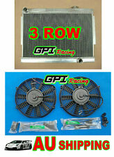 3row Aluminum Radiator Holden Torana LJ LC LH LX V8 with chev engine Manual +FAN