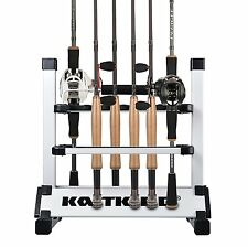 NEW Portable Fishing Rod/Pole Holder Aluminum 12-rod Fishing Rod Rack/Stand