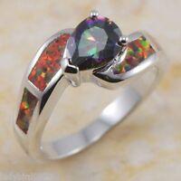 Ring 54 Fingerring plattiert  Kristall Zirkonia Verlobungsring Silberring