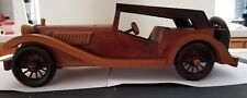 "MG-TC 1947 Hand Assembled 15"" Wooden replica Model-used"