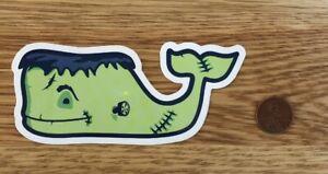 NEW Vineyard VINES Green Frankenstein Halloween Whale STICKER Laptop Car DECAL