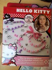 Perles alphabet pour colliers, Hello Kitty