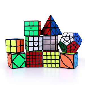 QIYI 2X2 3X3 4X4 5X5 Magic Pyramid Speed Cube Smooth Magic Puzzle Game Black