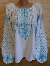 Ukrainian  Embroidered Woman's Blouse, size - XL, homespun linen, Ukraine
