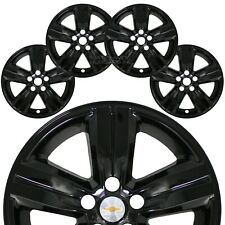 "4 Black 2017-2020 Chevrolet Trax Ls Lt 16"" Wheel Skins Hub Caps Full Rim Covers"