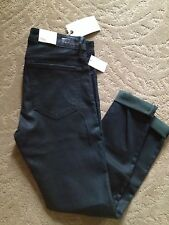 $238 NWT JOIE Womens Green Denim Skinny Fit Coated Colored Skinny Jeans 30