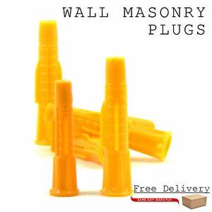 10 Pcs Masonry Wall Rawl Plugs Nylon Heavy Duty Strong Grip Thermal Block 8/10mm