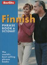 FINNISH PHRASE BOOK & DICTIONARY - BERLITZ - EXCELLENT AS NEW PB FAST FREE POST