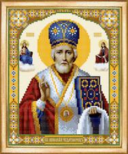 St Nicolas Orthodox Icon beading DIY kit bead embroidery glass seed beads craft