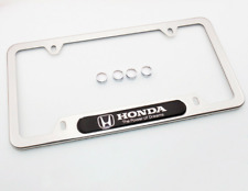 Honda The Power of Dreams License Frame Plate Cover Stainless Steel Chrome