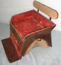 ANTIQUE CHILDS PONY/DONKEY SIDE SEAT/CHAIR/SADDLE W/PLANCHETTE/REST- RESTORATION