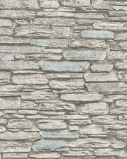 Marburg Novamur 81904 Steine Mauer Ziegel Klinker 3D Grau Weiß 6721-40