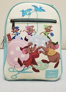 New Loungefly Disney Cinderella Sewing Mice Mini Backpack Gus Jaq Suzy Perla NWT