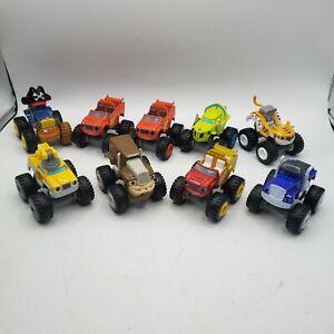 Blaze & the Monster Machines Lot Of 9 Car  Ferris pegwheel pete tiger Gasquatch