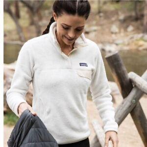 Patagonia Snap Fleece Pullover Cream Women's Size Medium
