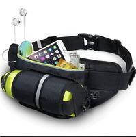 Sport Running Waterproof Belt Waist Pouch Fanny Pack Zip Bag Water Bottle Holder