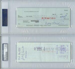 Rick Martel 1983 signed autograph wrestling check PSA DNA wwf awa