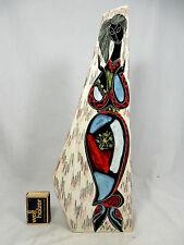"Unusual shaped  60´s Italian ""Alla Moda"" Florentine  pottery Keramik Vase 35 cm"