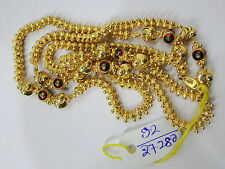 Vintage solid 22K Gold handmade jewelry Chain necklace enamel work