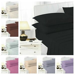 Percale Polycotton Flat Bed Sheet 100% Poly Cotton Single Double King Super King