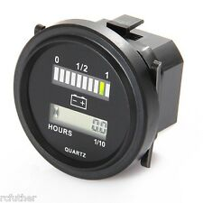 12V 24V 36V 48V 72V VDC Volt BATTERY INDICATOR GAUGE / HOUR METER for Golf Carts