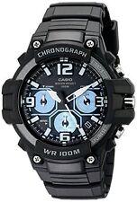 Casio Men's Heavy Duty-Design Chronograph Black Watch MCW100H-1A2V