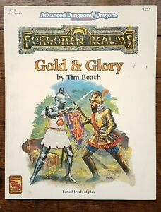 Gold & Glory AD&D 2nd Edition Forgotten Realms Accessory TSR 9373 FR15 1992