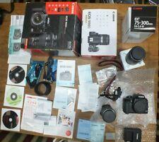 Canon EOS 1000D DSLR Spiegelreflexkamera Kamera SET EF 75- 300  EFS 18-55 mm TOP
