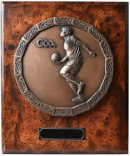 """Placa de bronce GAA con futbolista 12"""" - isla césped Crafts"""