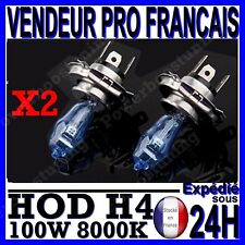 LOT 2 AMPOULE PLASMA HOD H4 100W LAMPE HALOGENE EFFET XENON GAZ BLANCHE 8000K 12