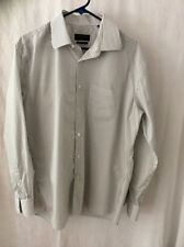 Lawrence Grey New York Striped Long Sleeve Shirt~ 44 ~ Lawrence Relax ~ Nice