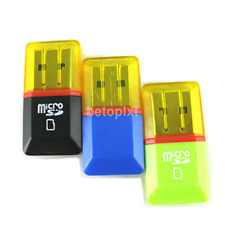 2Pcs USB 2.0 Micro SD SDHC TF Flash Memory Card Reader Adapter Mini For PC FR